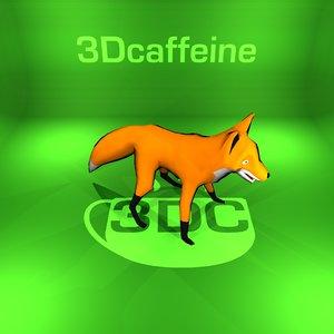 fox rigged ready 3D model