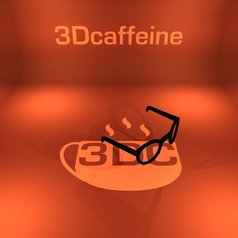 3D glasses ready engine model