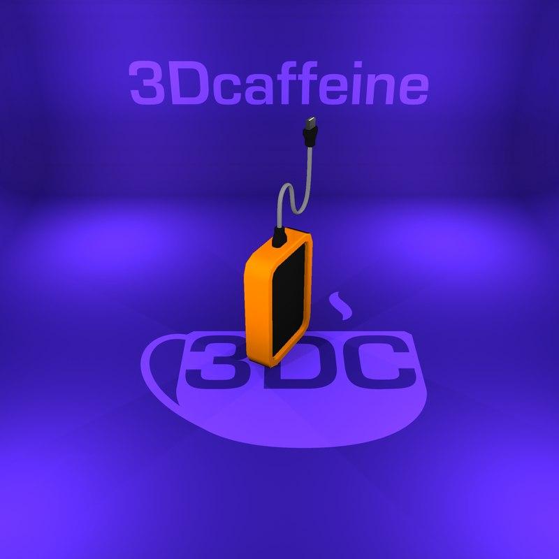 hard drive 3D