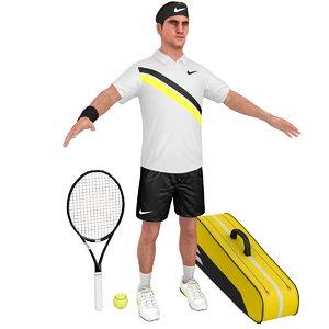 3D roger federer racket model
