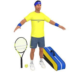 3D rafael nadal racket