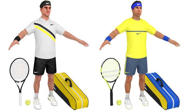 Tennis Player 3D Models for Download | TurboSquid