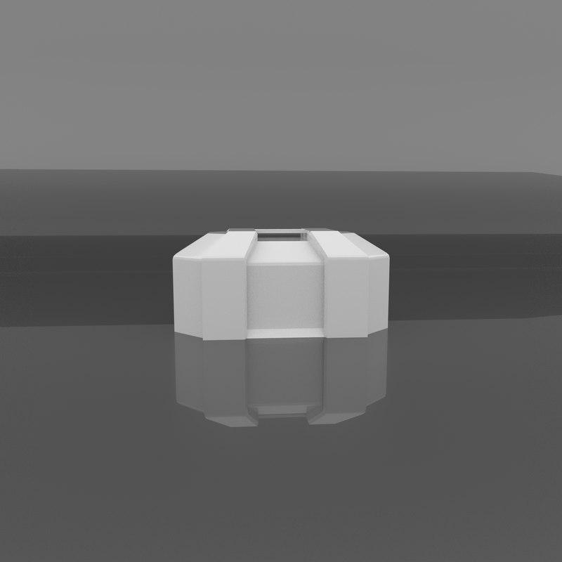 sci-fi med crate 3D