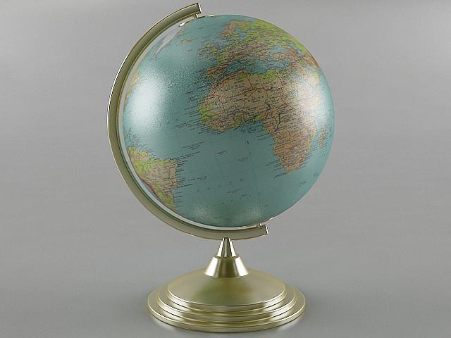 3D desk globe