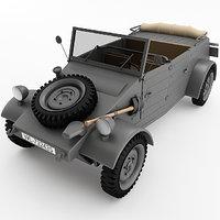 kubelwagen materials 3D model