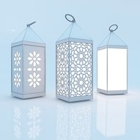3D moroccan lantern traditional