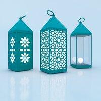 3D moroccan lantern traditional