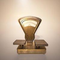 pita vintage balance scale 3D