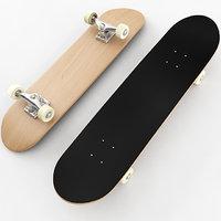 3D model skateboard materials