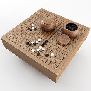 baduk board 3D