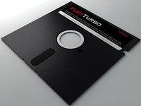 3D model 5 inch floppy disk