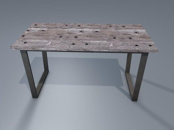 rustic table 3D model