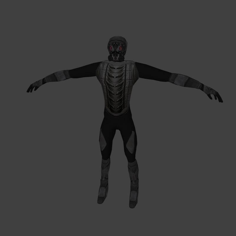 sci-fi solider 3D model