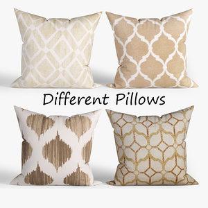 3D decorative pillows wayfair set