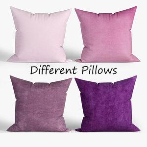 decorative pillows wayfair set 3D