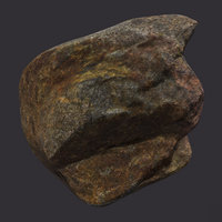 3D river rock model