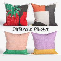 3D model decorative pillows habitat set