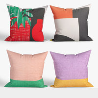 3D model decorative pillows habitat set