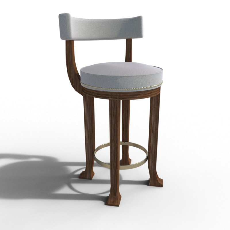 3D stool hickory chair