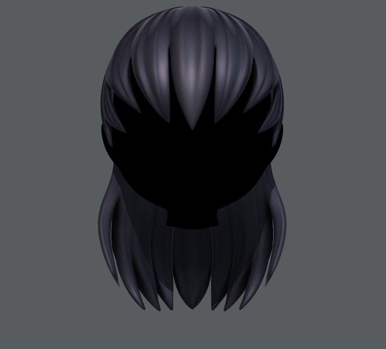 girl hair model
