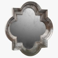 farmhouse wall mirror old 3D