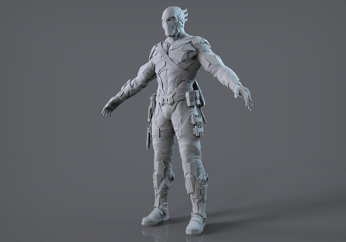 sci-fi military 3D model