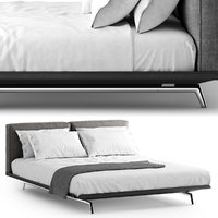 flexform este bed 3D model