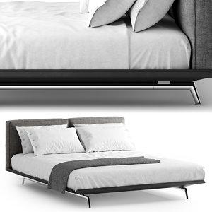 flexform este bed 3D model