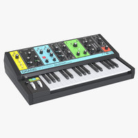 photoreal synthesizer moog grandmother 3D model