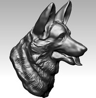 3D model dog head