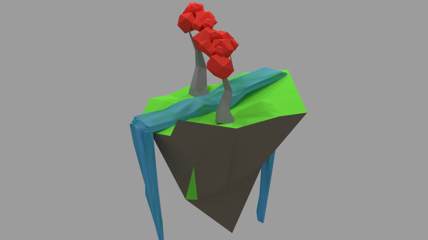 3D isomatric island model