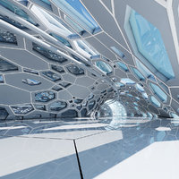 Futuristic Architectural Dome Interior