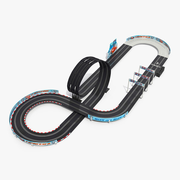 toy racing car track model