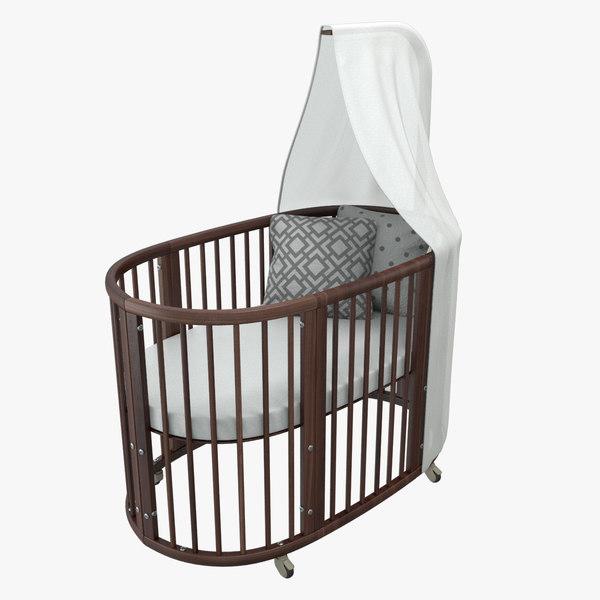 stokke sleepi bed 3D model