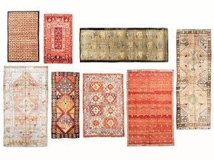 3D old vintage carpets 03 model