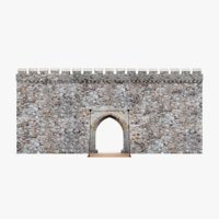 3D model medieval gate