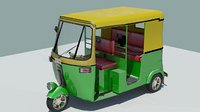 indian rickshaw green model