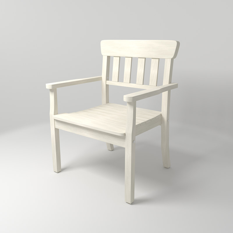 ikea angso outdoor arm chair 3D model