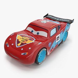 lightning mcqueen car toy 3D model