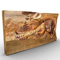 3D engraved tiger