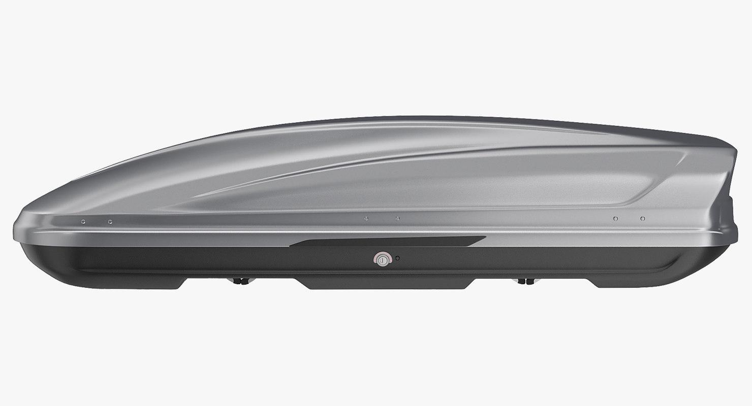 car roofbox silver generic 3D model
