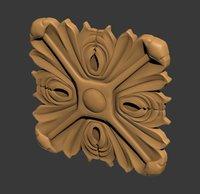 3D model of square rosette