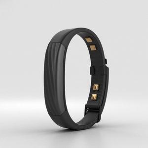 jawbone up3 black 3D model