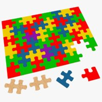 puzzle kids modeled 3D model