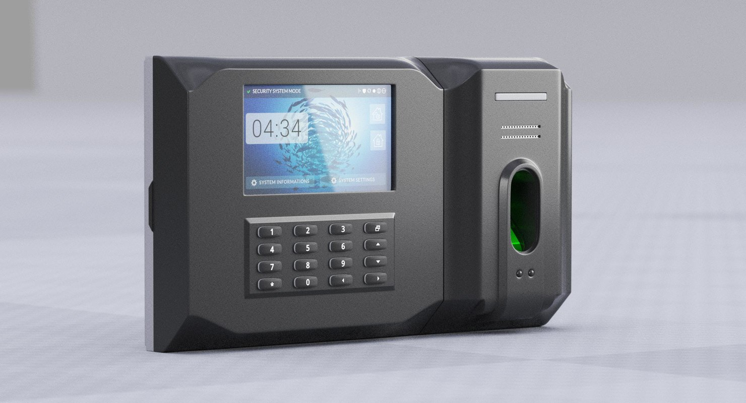 security panel 3D model