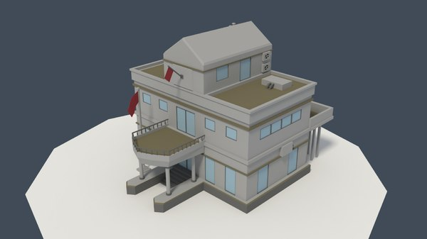 government building consulate 3D model