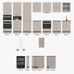 3D kitchen laminate model