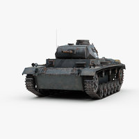 3D ww2 german panzer 3