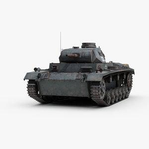 3D ww2 german panzer 3