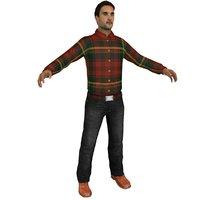 3D casual man
